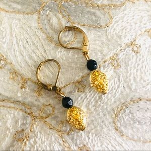 Black and gold new earrings